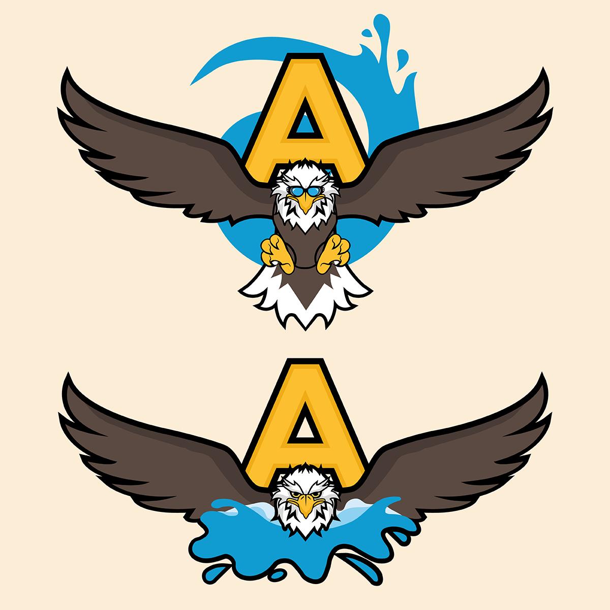 High School Swim Team Logo