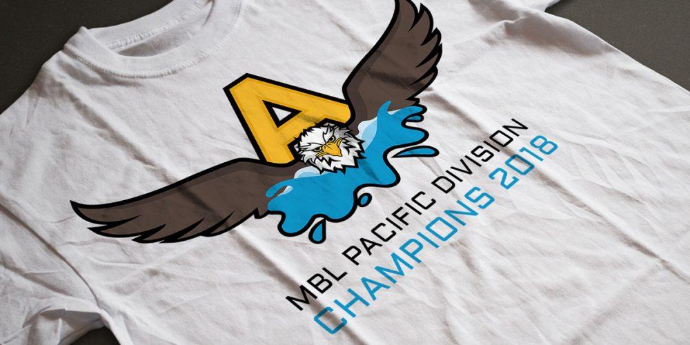 Custom Illustration of Eagle for HS Swim Team