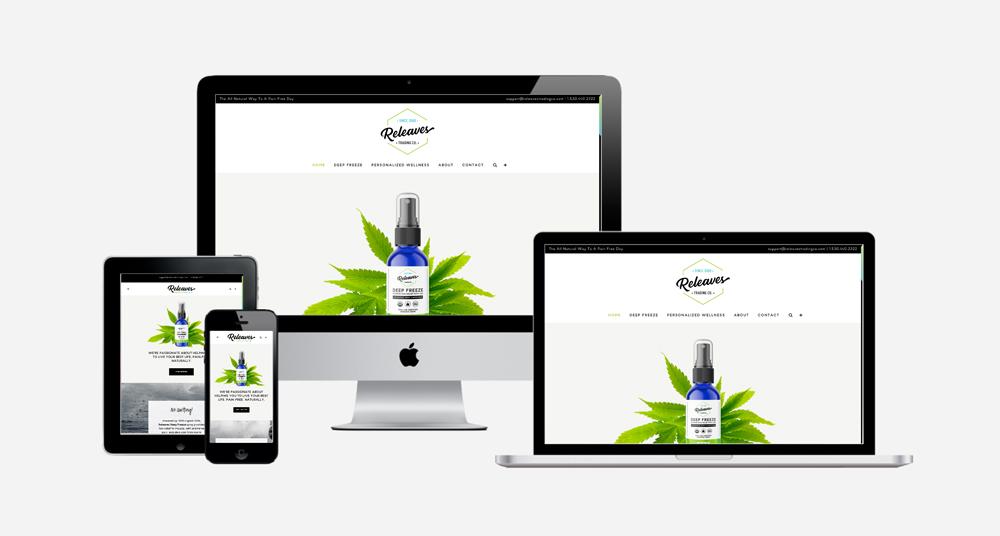 WordPress Site Design for Releaves Trading Co.
