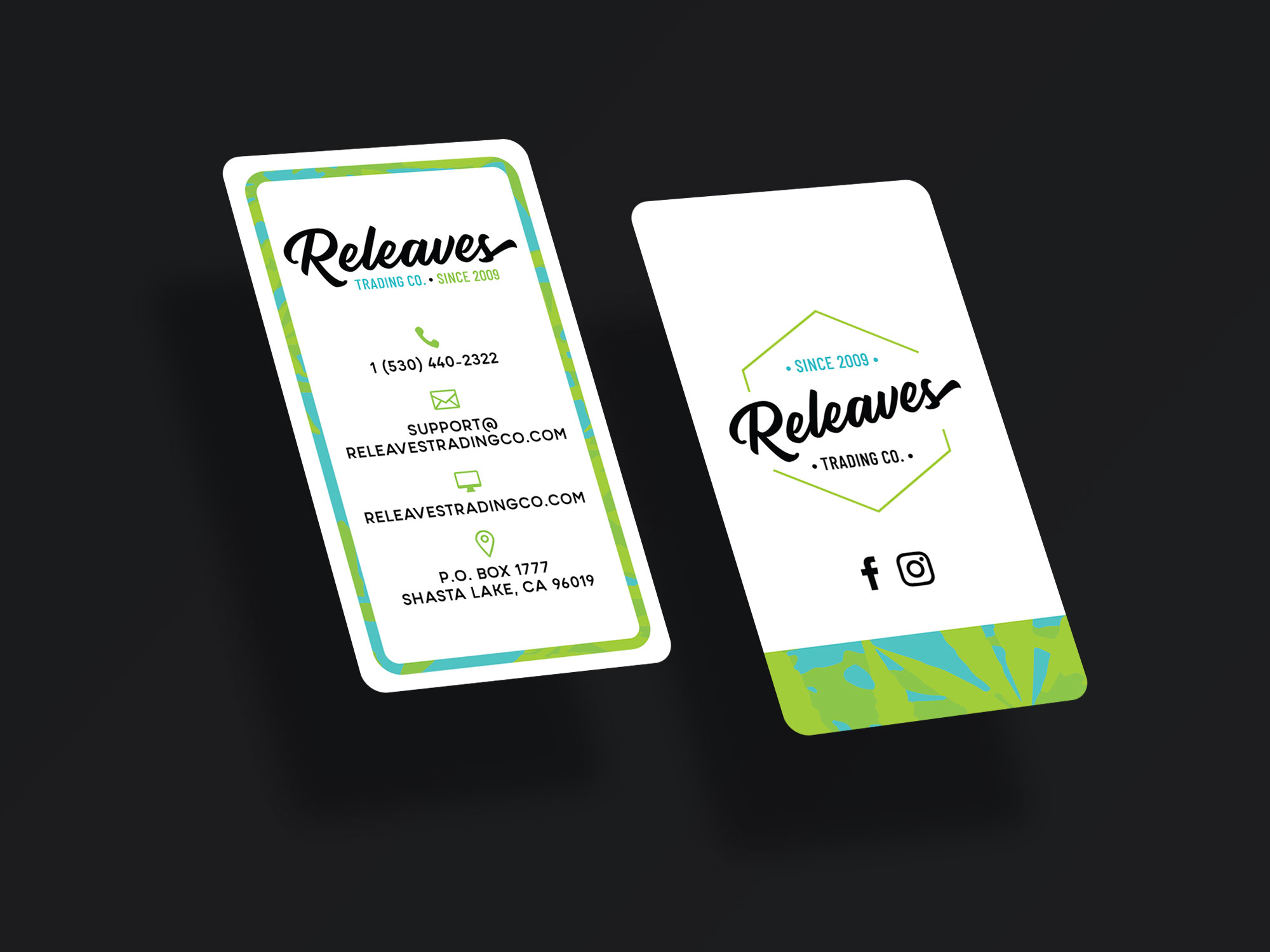 Business Card Design for Releaves Trading Co.