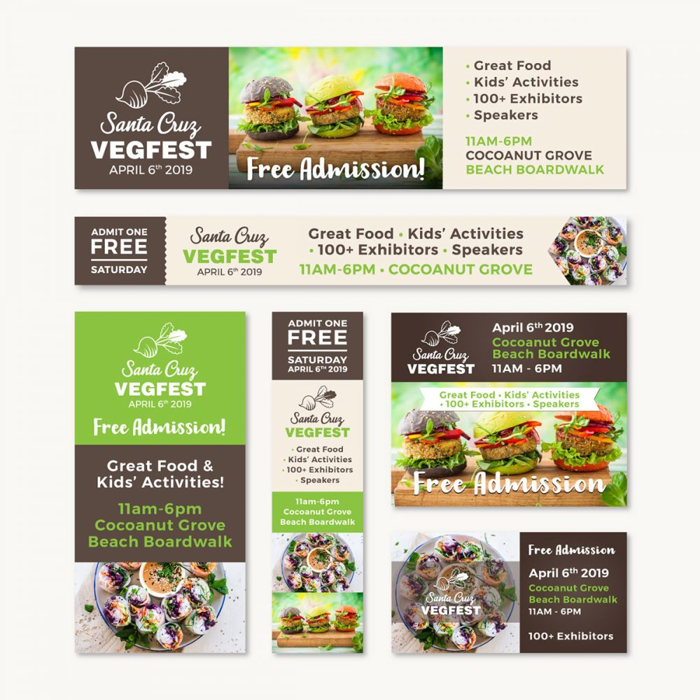 AdRoll Designs for SC VegFest